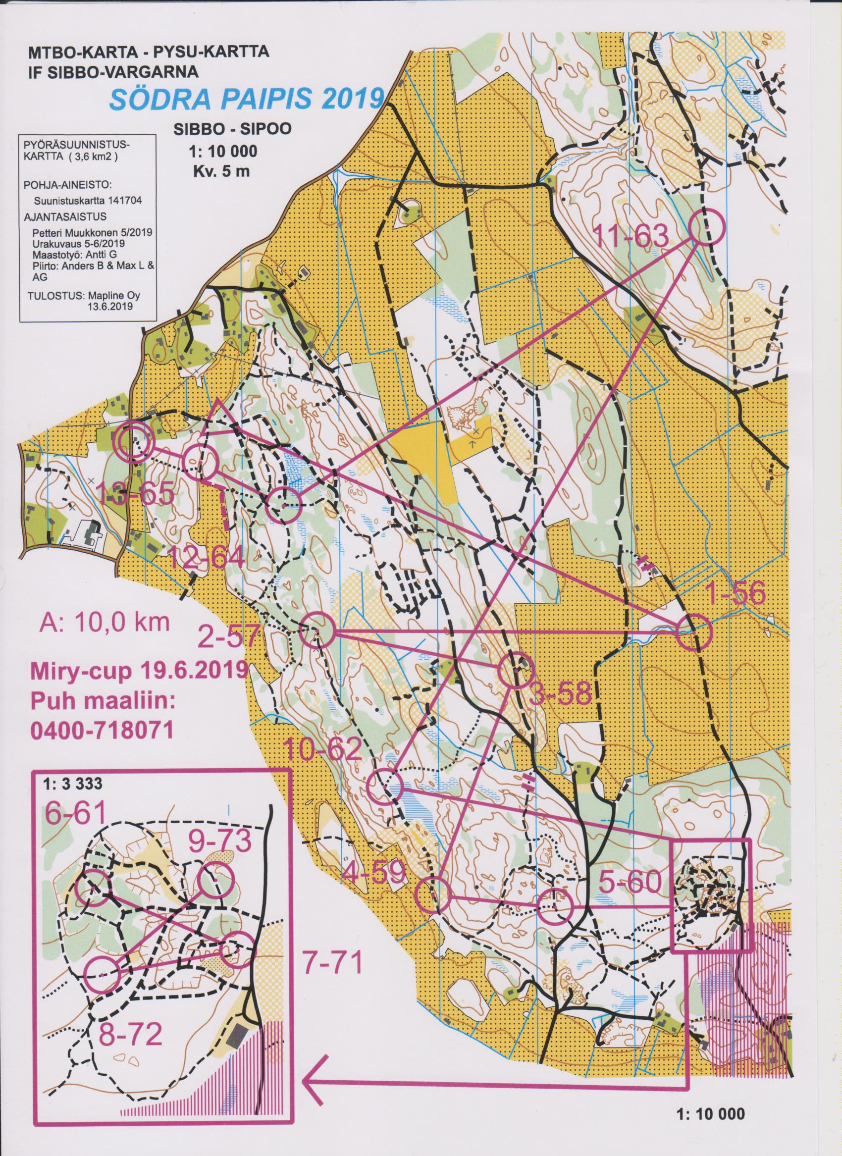 Miry Cup 6 Osakisa June 19th 2019 Orienteering Map From Sami