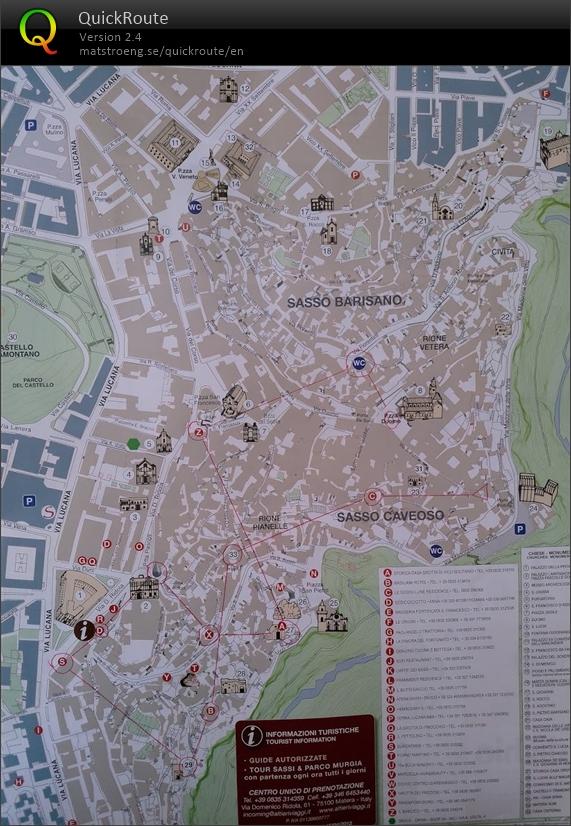 Matera October 18th 2018 Orienteering Map From Janne Turpiainen